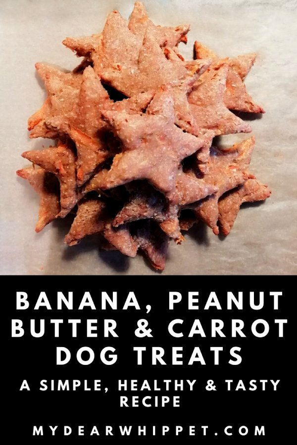 Dog Treats - Carrot, Banana & Peanut Butter Biscuits