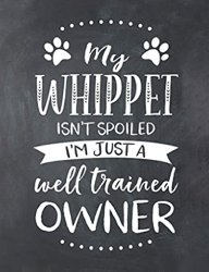 Whippet Dog Gifts - Lined Notebook