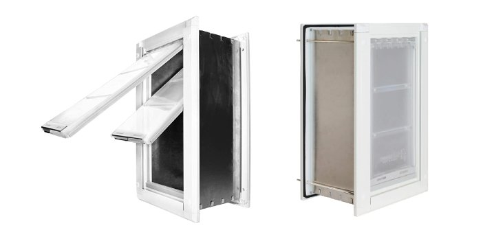 Wall Mounted Extra Insulated Aluminum Dog Door by Endura Flap - $Expensive Dog Accessories