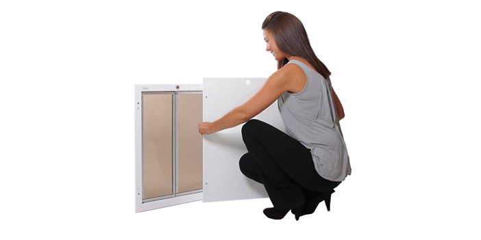 Wall Mount Dog Door with Lock and Key by PlexiDor Performance Pet Doors
