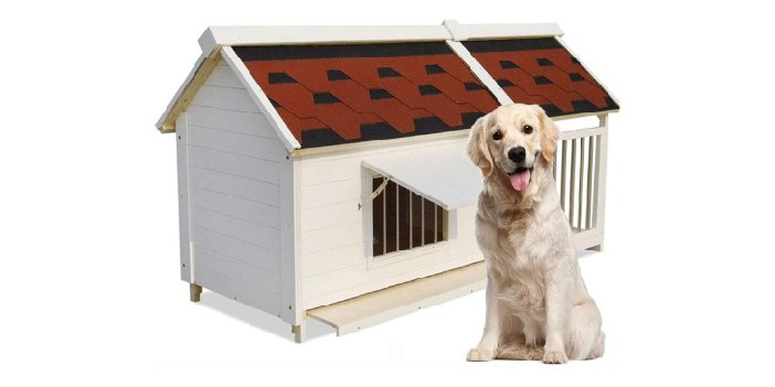 Wooden Pet Kennel with Balcony by Run-Anmy